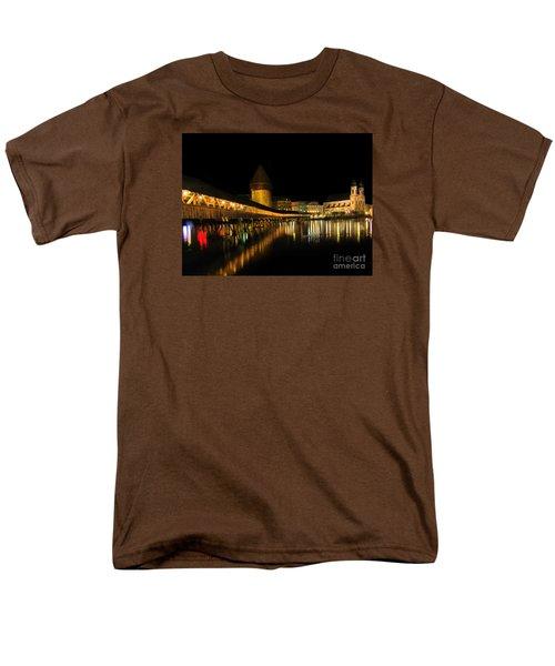 Lucerne Night Beauty II - Painting Men's T-Shirt  (Regular Fit) by Al Bourassa