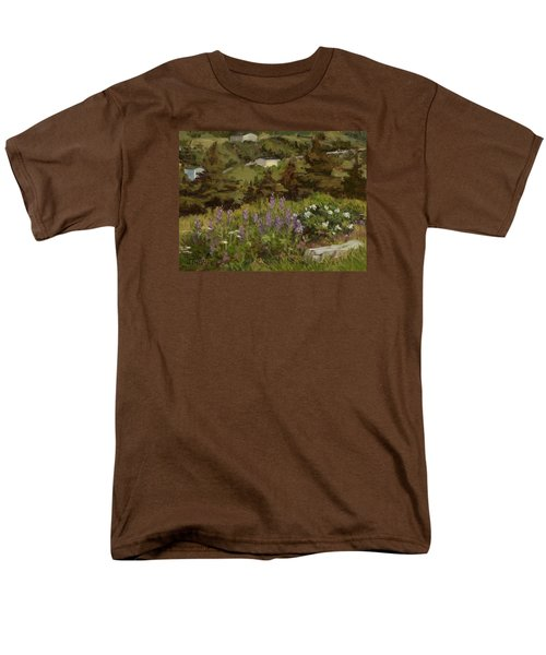 Lupine And Wild Roses Men's T-Shirt  (Regular Fit) by Jane Thorpe