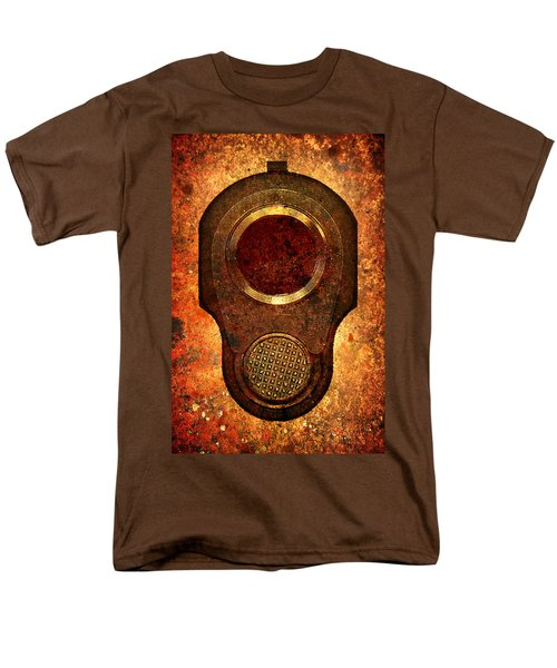 M1911 Muzzle On Rusted Background Men's T-Shirt  (Regular Fit) by M L C