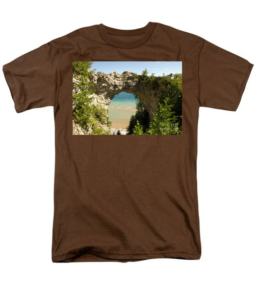 Mackinac Island Arch Men's T-Shirt  (Regular Fit) by Larry Carr