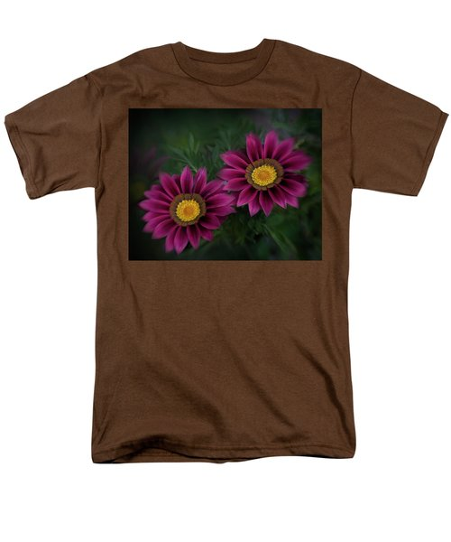 Men's T-Shirt  (Regular Fit) featuring the photograph Magenta African Daisies by David and Carol Kelly