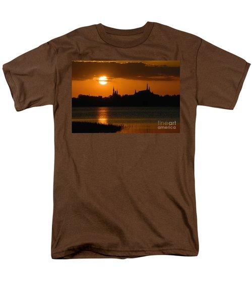 Magic Kingdom Sunset Men's T-Shirt  (Regular Fit) by David Lee Thompson