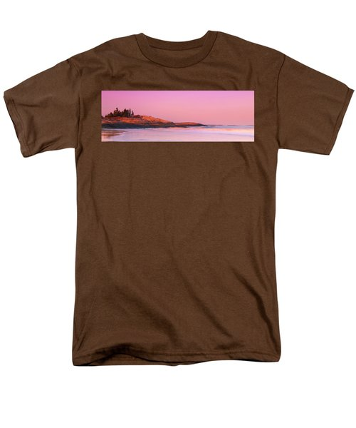 Maine Sheepscot River Bay With Cuckolds Lighthouse Sunset Panorama Men's T-Shirt  (Regular Fit) by Ranjay Mitra