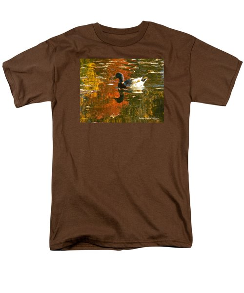 Men's T-Shirt  (Regular Fit) featuring the photograph Mallard Duck In The Fall by Emmy Marie Vickers