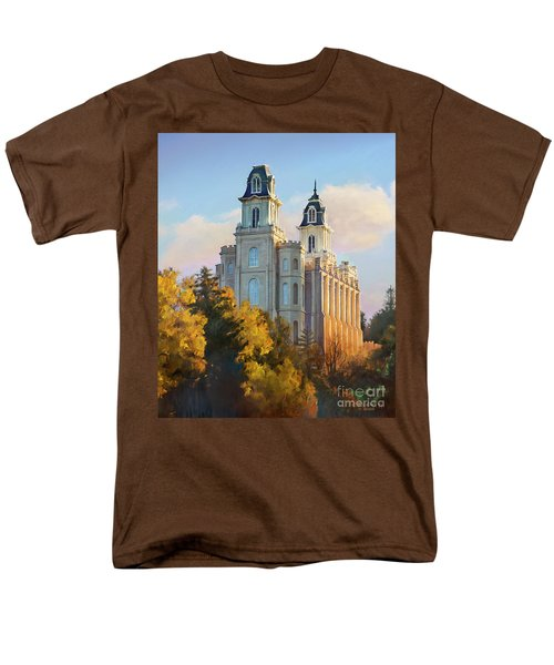 Manti Temple Tall Men's T-Shirt  (Regular Fit) by Rob Corsetti