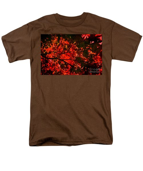 Maple Dance In Red Men's T-Shirt  (Regular Fit) by Paul Cammarata