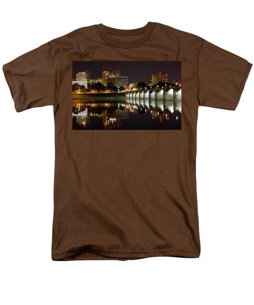Market Street Bridge Reflections Men's T-Shirt  (Regular Fit) by Shelley Neff