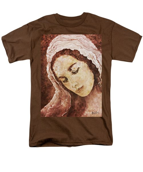 Mary Mother Of Jesus Men's T-Shirt  (Regular Fit) by AmaS Art