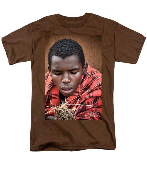 Men's T-Shirt  (Regular Fit) featuring the photograph Masai Firemaker by Karen Lewis