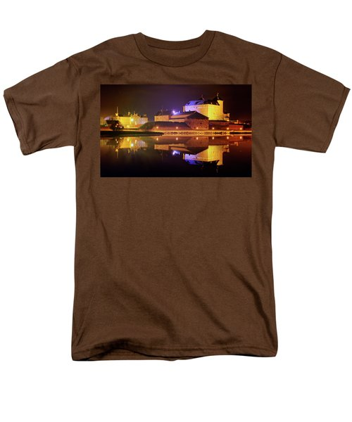 Medieval Castle By The Lake At Night Men's T-Shirt  (Regular Fit) by Teemu Tretjakov