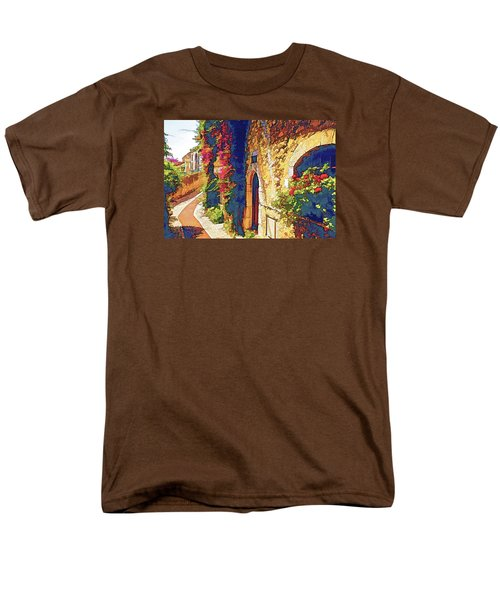 Men's T-Shirt  (Regular Fit) featuring the photograph Medieval Saint-paul-de-vence by Dennis Cox WorldViews