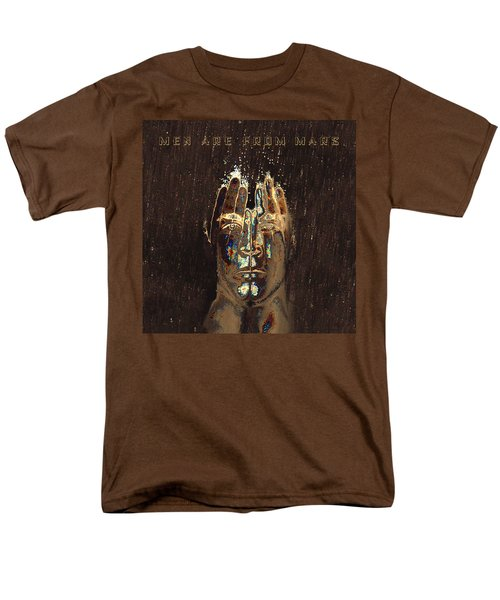 Men Are From Mars Gold Men's T-Shirt  (Regular Fit) by ISAW Gallery