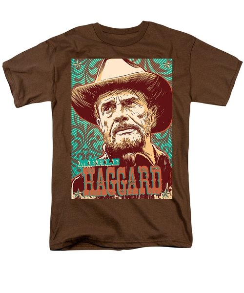Merle Haggard Pop Art Men's T-Shirt  (Regular Fit) by Jim Zahniser