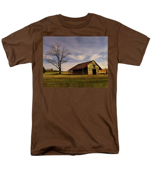 Men's T-Shirt  (Regular Fit) featuring the photograph Midnight At The Mule Barn by George Randy Bass