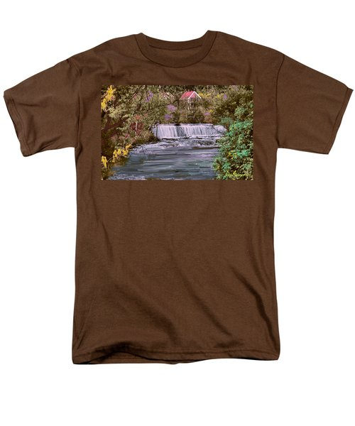 Men's T-Shirt  (Regular Fit) featuring the digital art Millstream by John Selmer Sr