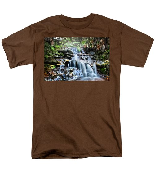 Men's T-Shirt  (Regular Fit) featuring the photograph Misty Falls by Az Jackson
