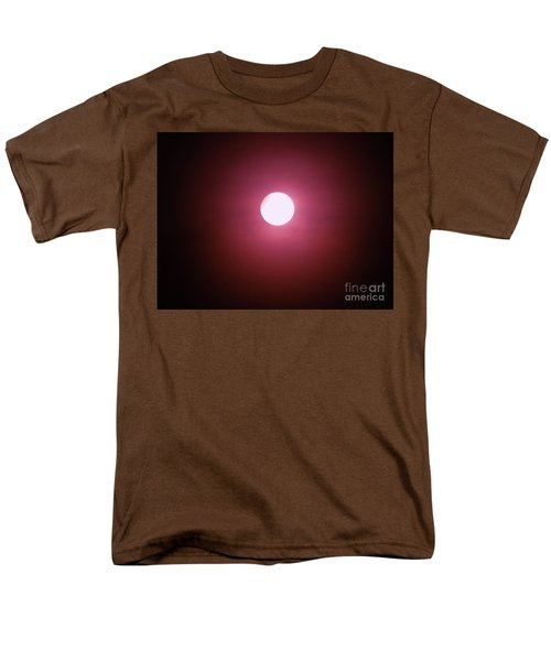 Men's T-Shirt  (Regular Fit) featuring the photograph Misty Moon by J L Zarek