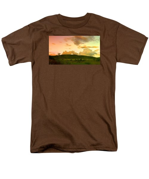 Men's T-Shirt  (Regular Fit) featuring the photograph Misty Morning Sunrise by Mike Breau