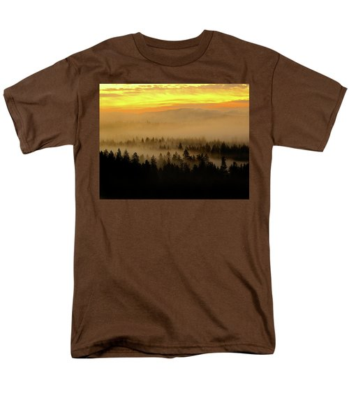 Men's T-Shirt  (Regular Fit) featuring the photograph Misty Sunrise by Ben Upham III