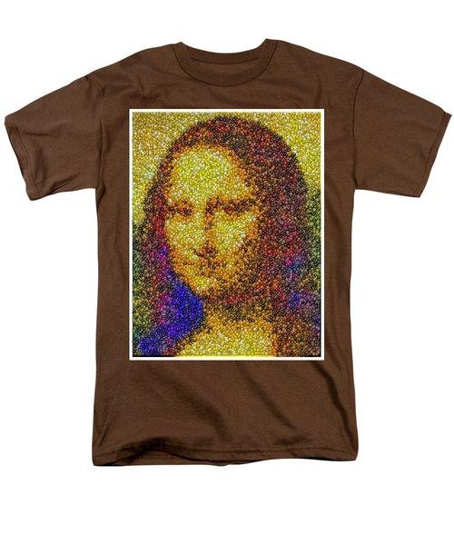 Men's T-Shirt  (Regular Fit) featuring the mixed media Mm Candies Mona Lisa by Paul Van Scott