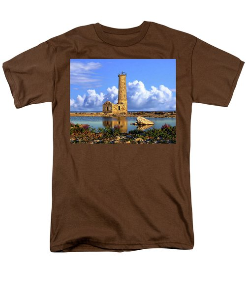Mohawk Island Lighthouse Men's T-Shirt  (Regular Fit) by Anthony Dezenzio