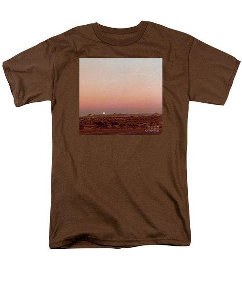 Men's T-Shirt  (Regular Fit) featuring the digital art Mojave Sunset by Walter Chamberlain