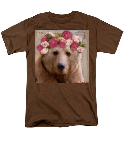 Men's T-Shirt  (Regular Fit) featuring the digital art Momma Bear by Lisa Noneman