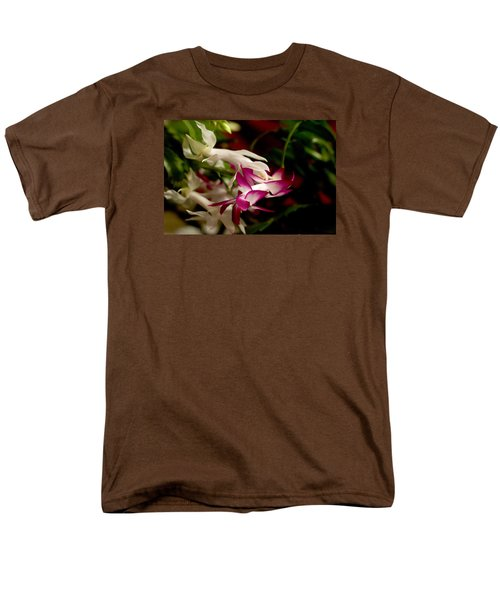 Men's T-Shirt  (Regular Fit) featuring the photograph Momma's Christmas Cactus by B Wayne Mullins
