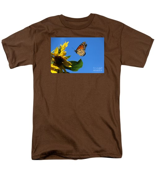 Monarch And Blue Sky  Men's T-Shirt  (Regular Fit) by Yumi Johnson