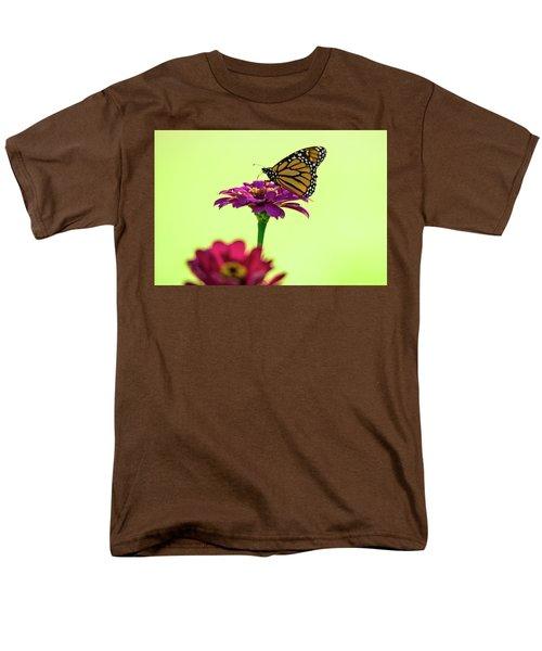 Monarch On A Zinnia Men's T-Shirt  (Regular Fit) by Shelly Gunderson