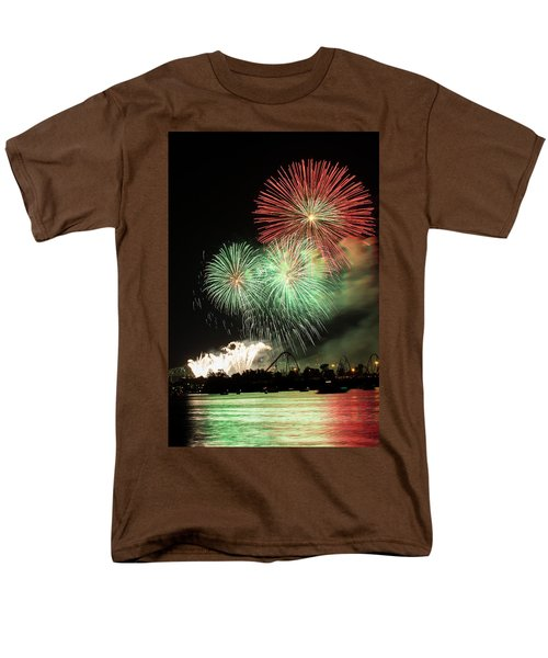 Montreal-fireworks Men's T-Shirt  (Regular Fit) by Mircea Costina Photography