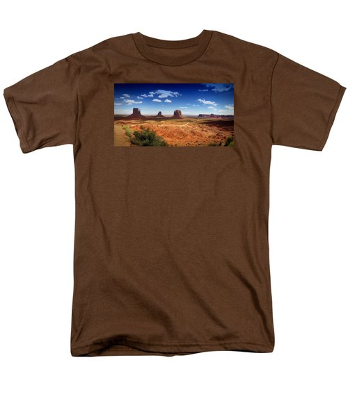 Monument Valley Utah Men's T-Shirt  (Regular Fit) by James Bethanis
