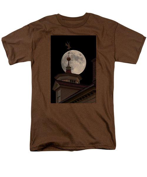 Moon Over Mount Vernon Men's T-Shirt  (Regular Fit) by Ed Clark