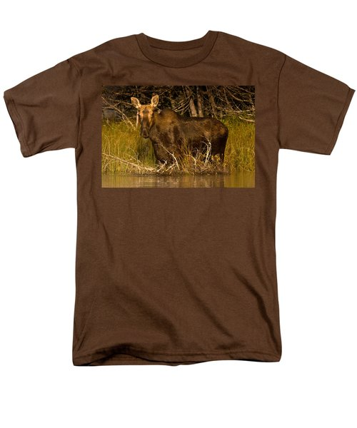 Moose Of Prong Pond Men's T-Shirt  (Regular Fit) by Brent L Ander