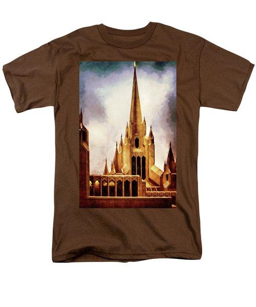 Mormon Temple Steeple Men's T-Shirt  (Regular Fit) by Joseph Hollingsworth