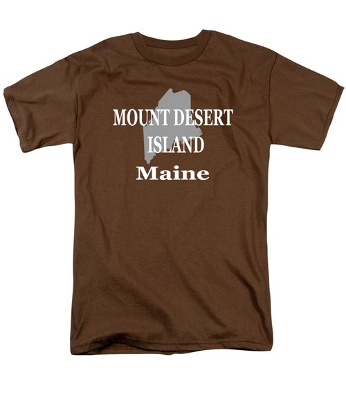 Mount Desert Island Maine State City And Town Pride  Men's T-Shirt  (Regular Fit) by Keith Webber Jr