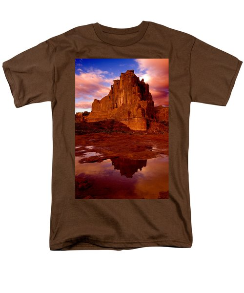 Men's T-Shirt  (Regular Fit) featuring the photograph Mountain Sunrise Reflection by Harry Spitz