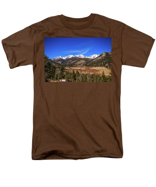 Mountain View From Fall River Road In Rocky Mountain National Pa Men's T-Shirt  (Regular Fit) by Peter Ciro