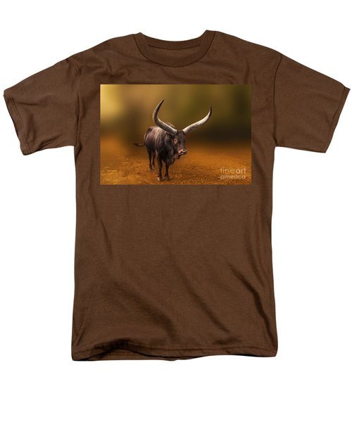 Mr. Bull From Africa Men's T-Shirt  (Regular Fit) by Charuhas Images