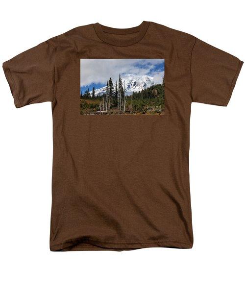 Mt. Rainier High Meadow Men's T-Shirt  (Regular Fit) by Chuck Flewelling