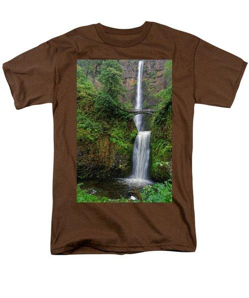Multnoma Falls Men's T-Shirt  (Regular Fit) by Jonathan Davison