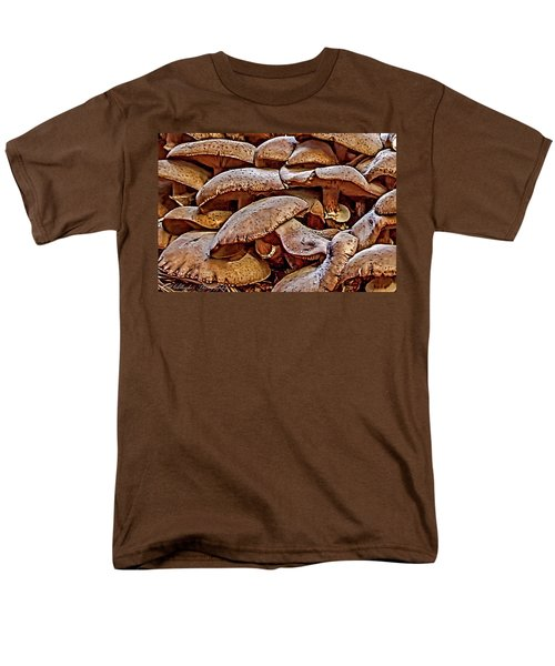 Men's T-Shirt  (Regular Fit) featuring the photograph Mushroom Colony by Bill Gallagher