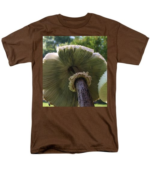 Men's T-Shirt  (Regular Fit) featuring the photograph Mushroom Down Under  by Bruce Bley
