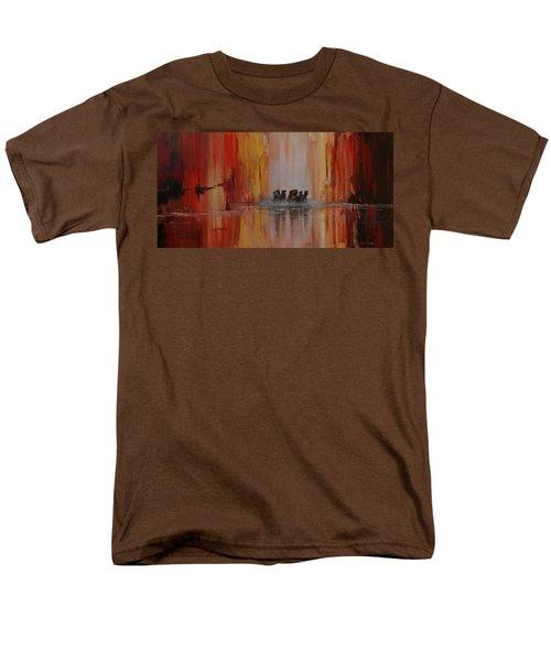 Mustang Canyon Men's T-Shirt  (Regular Fit) by Karen Kennedy Chatham