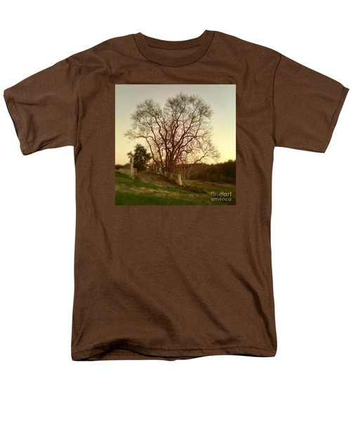 Men's T-Shirt  (Regular Fit) featuring the photograph My Tree Has A Soul  by Delona Seserman