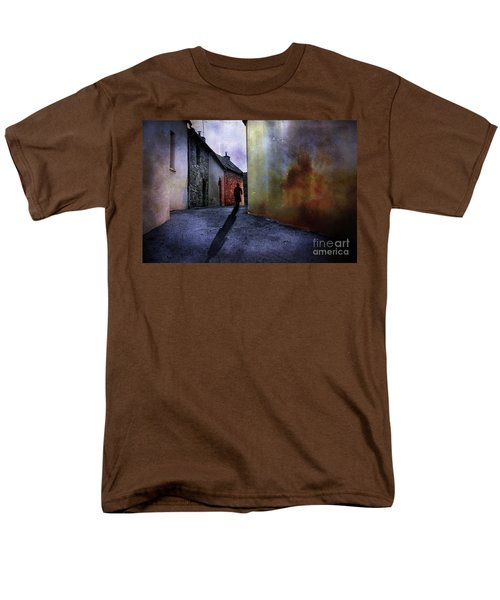 Men's T-Shirt  (Regular Fit) featuring the mixed media Mystery Corner by Jim  Hatch
