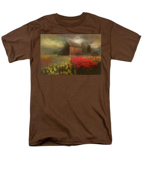 Mythical Tulip Farm Men's T-Shirt  (Regular Fit) by Jeff Burgess