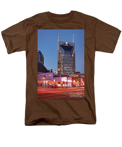 Men's T-Shirt  (Regular Fit) featuring the photograph Nashville - Batman Building by Brian Jannsen