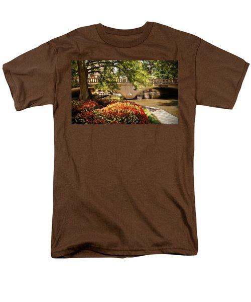 Men's T-Shirt  (Regular Fit) featuring the photograph Navarro Street Bridge by Steven Sparks