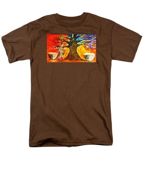 Men's T-Shirt  (Regular Fit) featuring the mixed media Neighbor - Voisin by Fania Simon